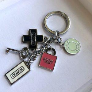 Coach Key & Lock Keychain Charm